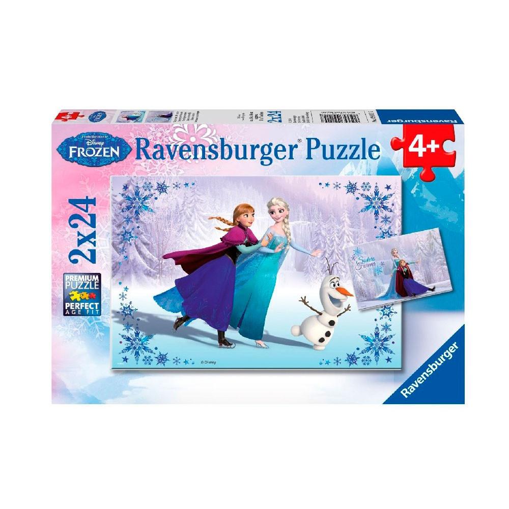 Disney Frozen Puzzel: Zussen voor altijd, 2x24st.