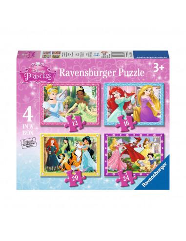 Disney Prinses Puzzel, 4in1
