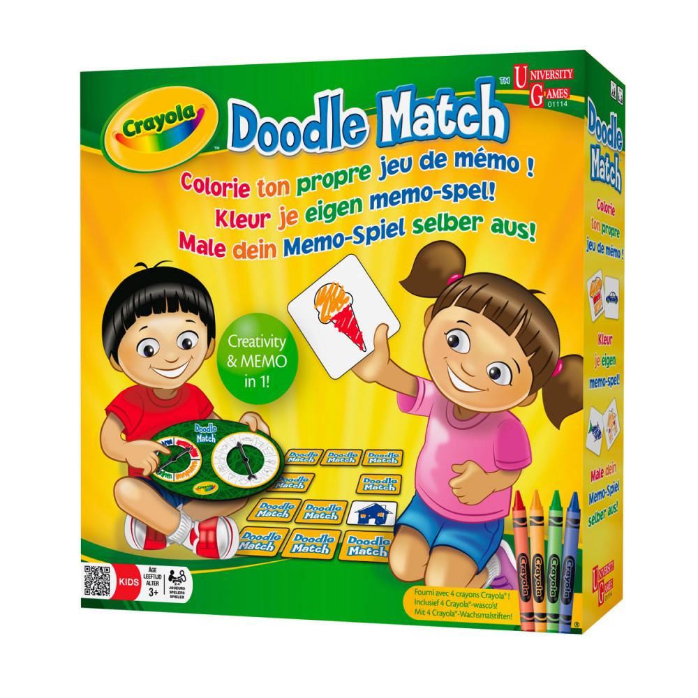 Crayola Doodle Match - Kleur je eigen Memo Spel