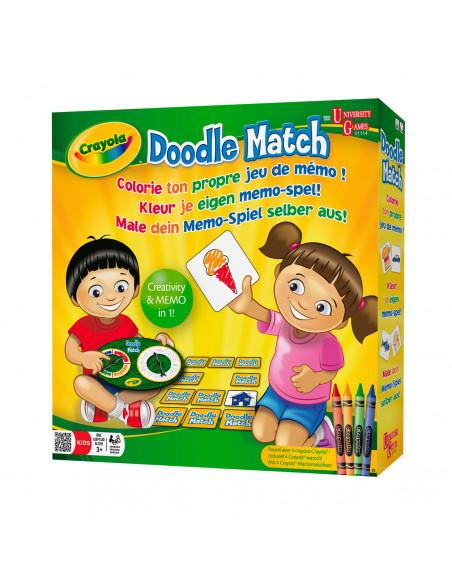 Crayola Doodle Match - Kleur je eigen Memo Spel BT