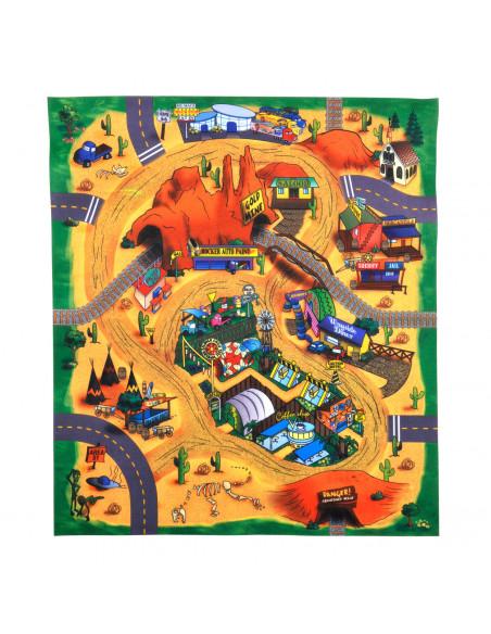 Speelmat met Auto Woestijn