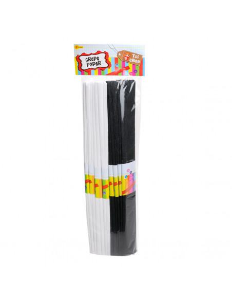 Crepepapier - Zwart/Wit