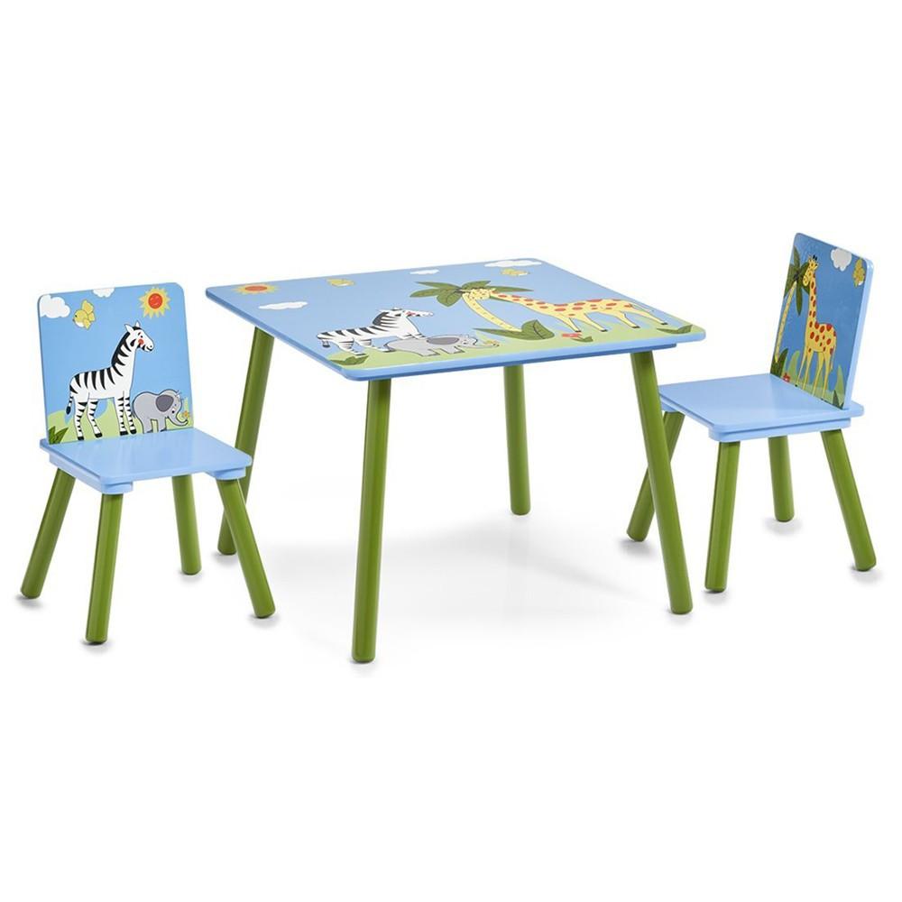 Kindertafel Met Twee Stoeltjes.Kindertafel Met Twee Stoelen Safari