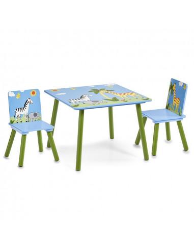 Kindertafel Met Twee Stoelen Safari