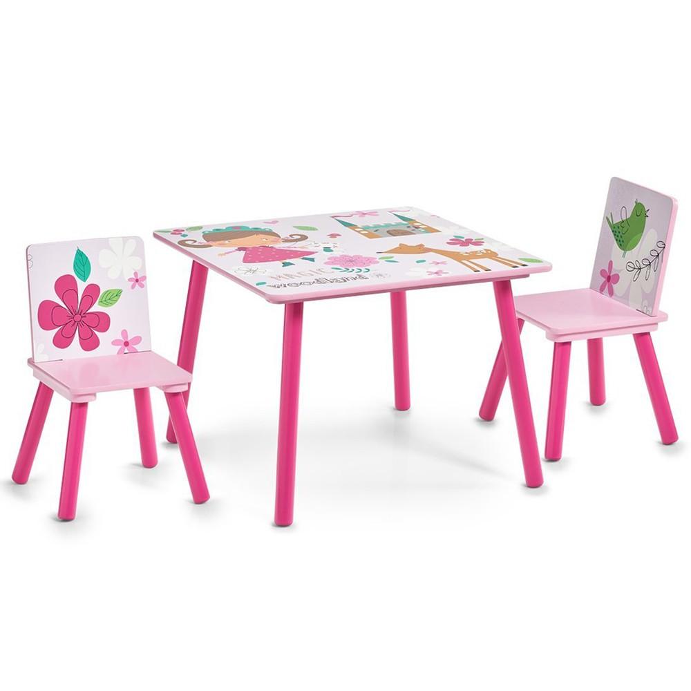Kindertafel Met Twee Stoeltjes.Kindertafel Met Twee Stoelen Girly