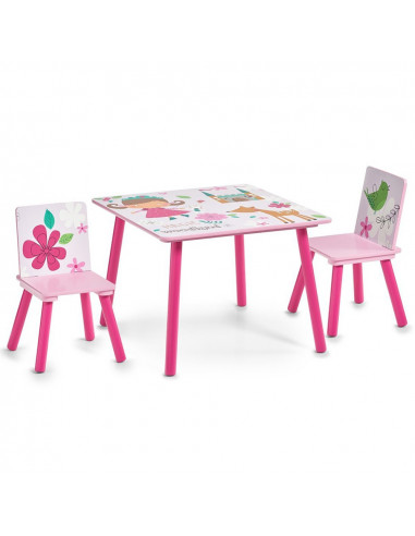 Kindertafel Met Twee Stoelen Girly