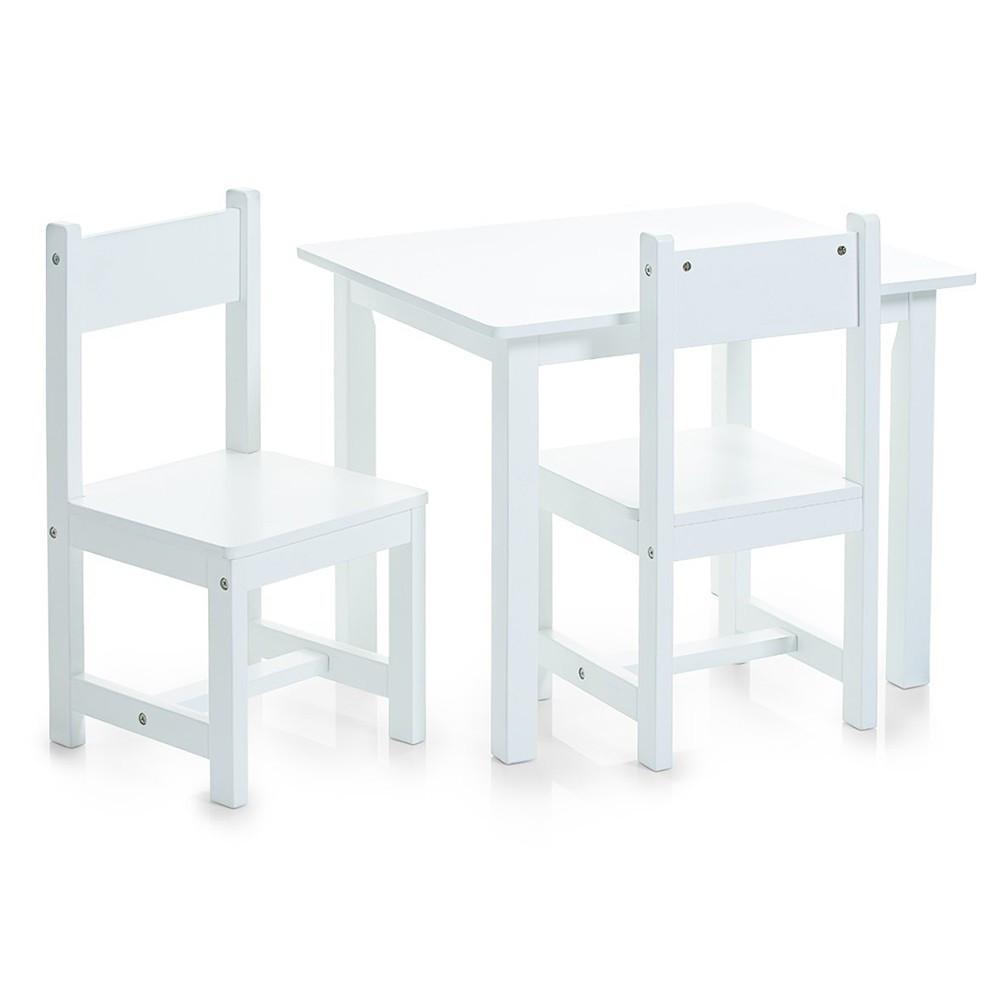 Kindertafel Met Twee Stoeltjes.Kindertafel Met Twee Stoelen Wit