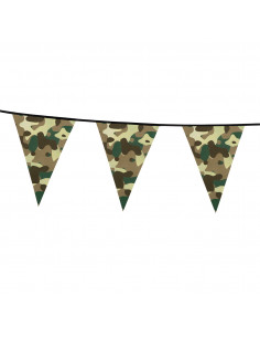 Camouflage Vlaggenlijn, 6mtr.