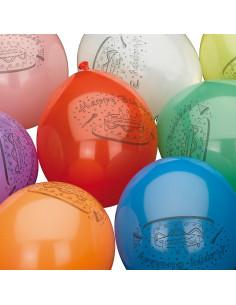 Ballonnen Happy Birthday, 10st.