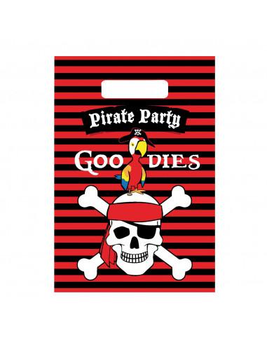 Uitdeelzakjes Piraten, 6st.