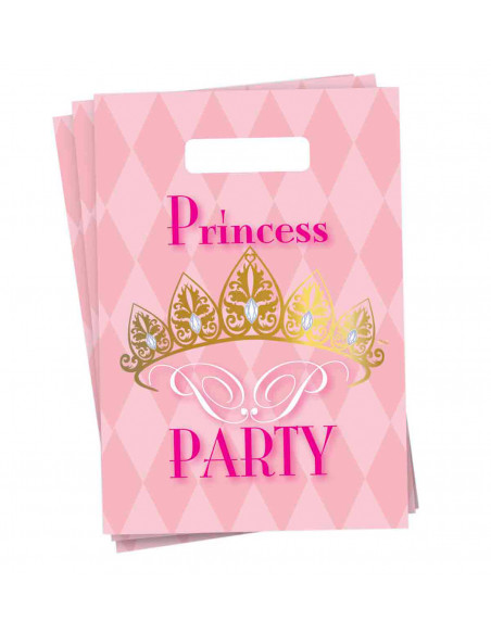 Uitdeelzakjes Princess Party, 6st.
