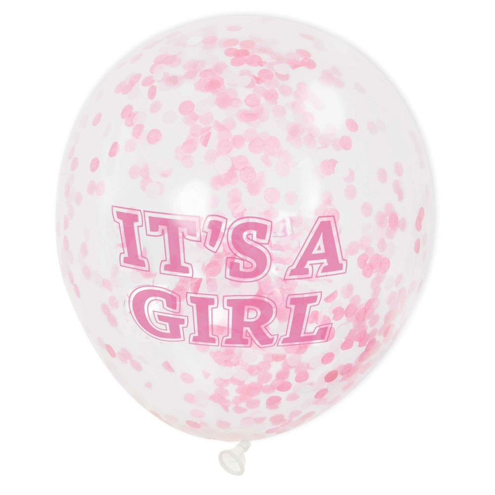 Confetti Ballonnen Meisje, 6st.