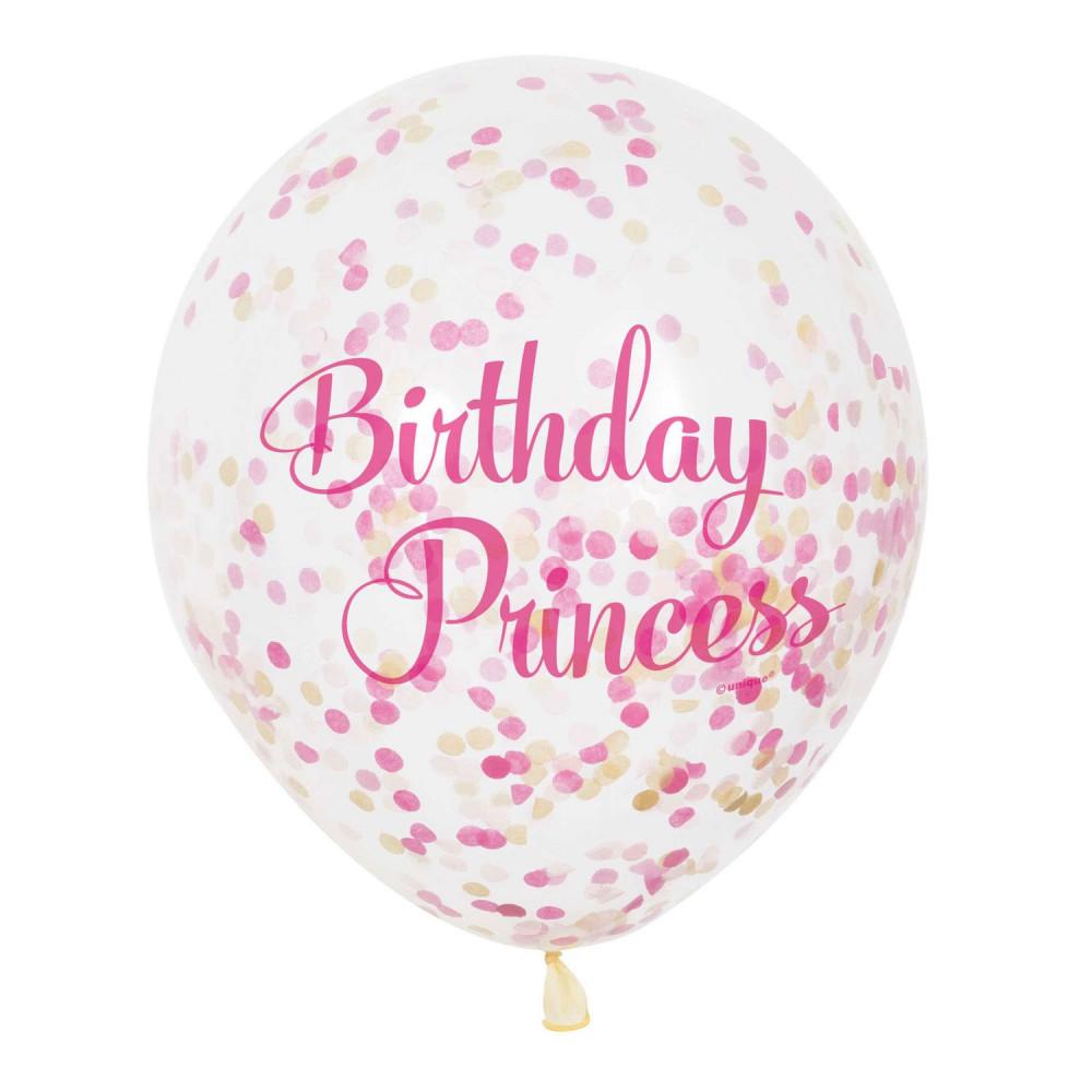 Confetti Ballonnen Prinses, 6st.