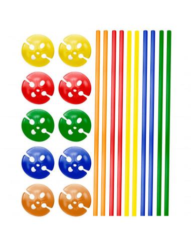 Ballonhouders Gekleurd, 10st.