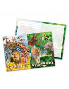 Safari Uitnodigingen, 8st.