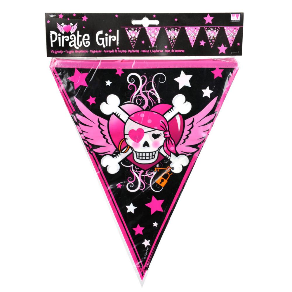 Pirate Girl Vlaggenlijn, 6mtr.