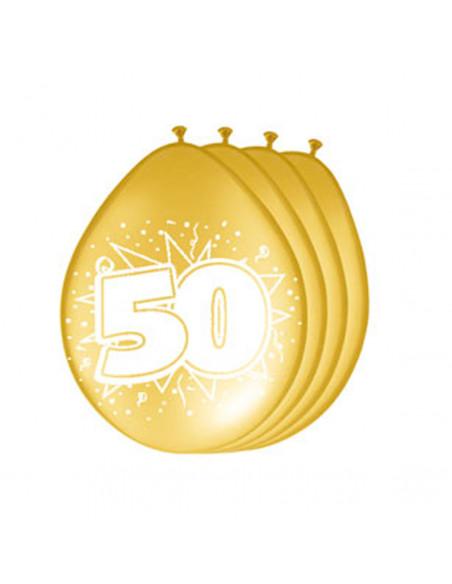 Ballonnen 50 jaar Goud, 8st. BT