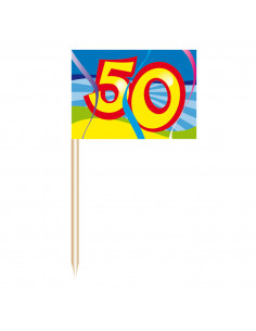 Cocktailprikkers - 50 jaar, 50st.