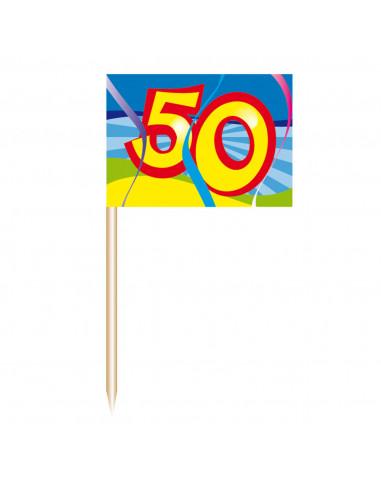 Cocktailprikkers - 50 jaar, 50st. BT