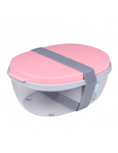 Mepal Saladebox Ellipse - Nordic Pink