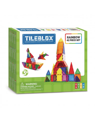 Magformers Tileblox Regenboogset, 42dlg.