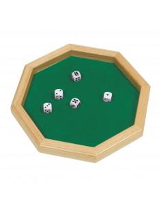 Dobbelsteenbord + Dobbelstenen