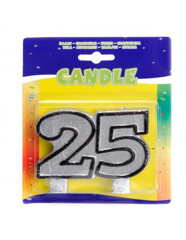 Verjaardagskaars - 25 jaar