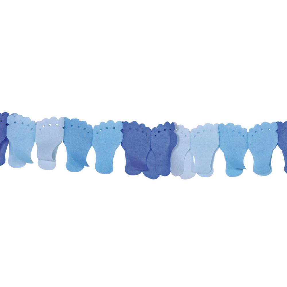Papieren Slinger  Voetjes - Blauw