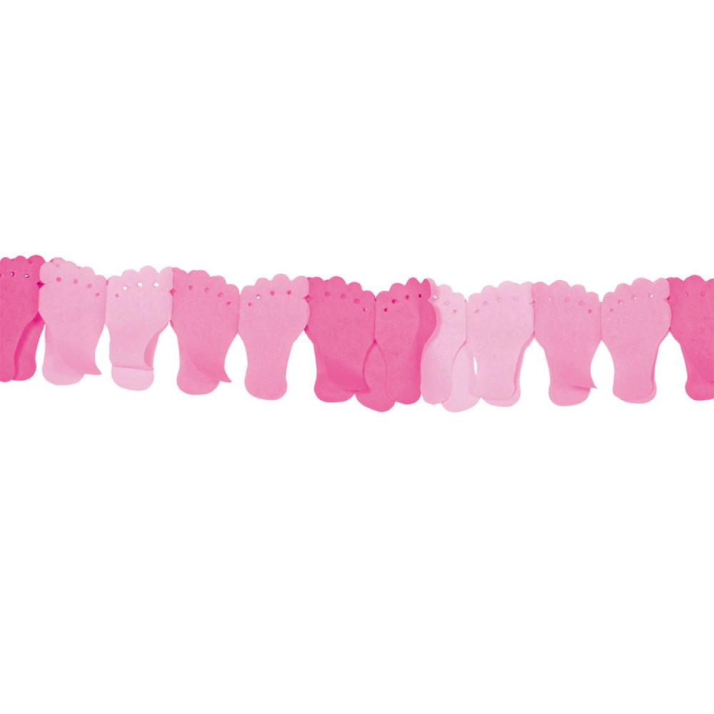 Papieren Slinger Voetjes- Roze BT