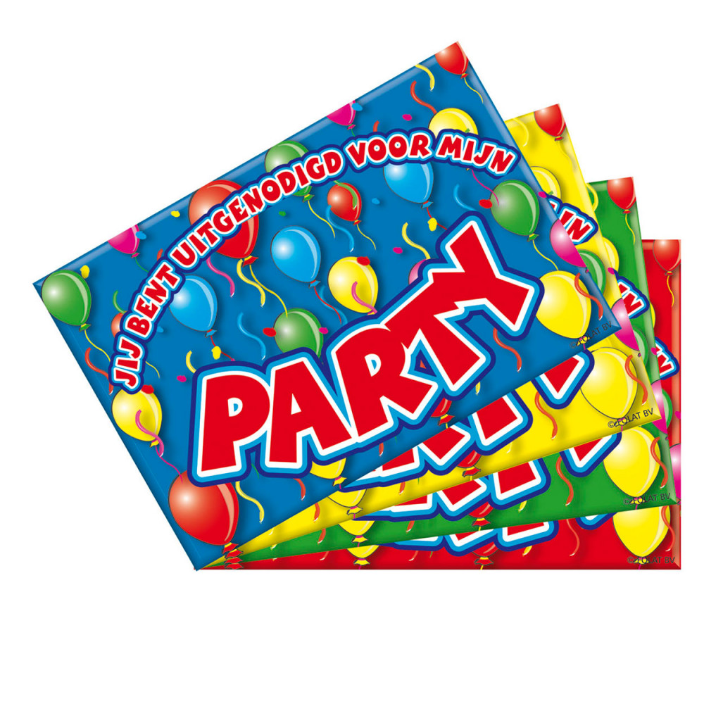 Party Uitnodigingen, 8st.