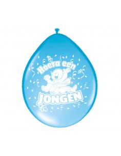Ballonnen Hoera een Jongen, 8st.