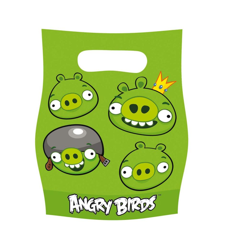 Angry Birds Uitdeelzakjes, 6st.