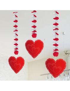 Hart Hangdecoratie, 3st.