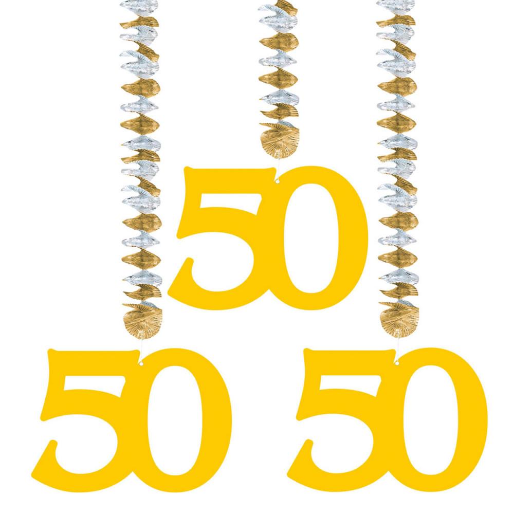 Hangdecoratie - 50 jaar, 3st.