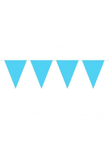 Lichtblauwe Mini Vlaggenlijn, 3mtr.