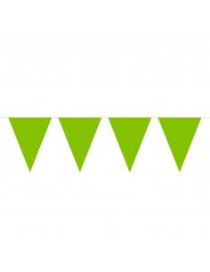 Limegroene Mini Vlaggenlijn, 3mtr.