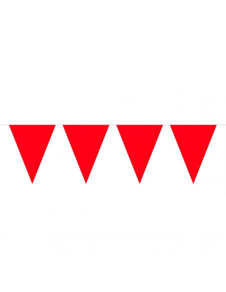 Rode Mini Vlaggenlijn, 3mtr.