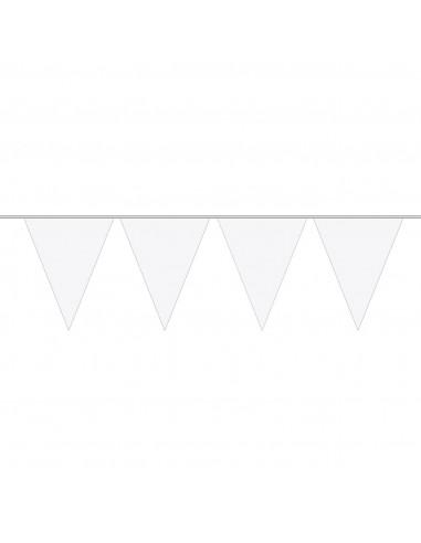 Witte Mini Vlaggenlijn, 3mtr. BT
