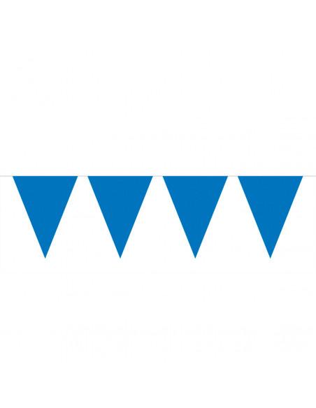 Blauwe Mini Vlaggenlijn, 3mtr.