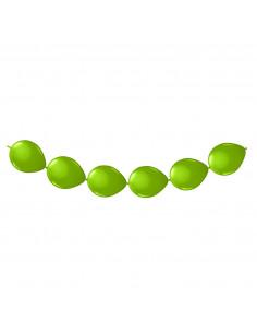 Limegroene Knoopballonnen, 8st.