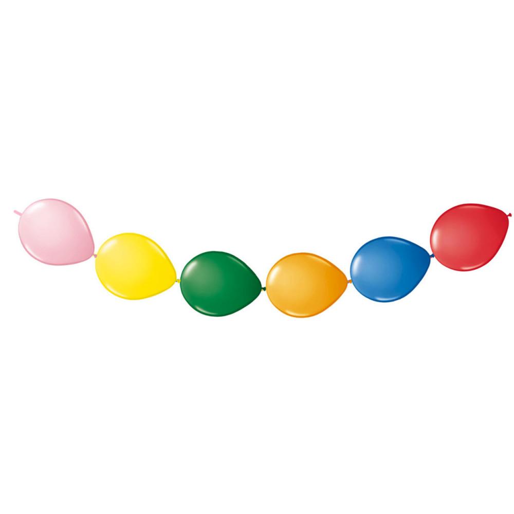 Gekleurde Knoopballonnen, 8st. BT