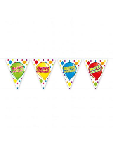 Vlaggenlijn Happy Birthday, 6mtr.
