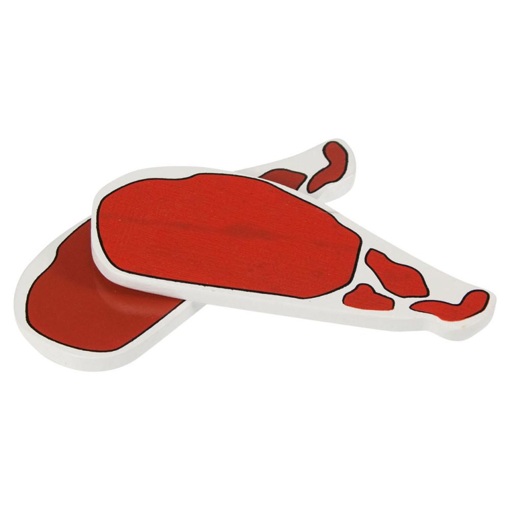 Houten Bacon, per stuk