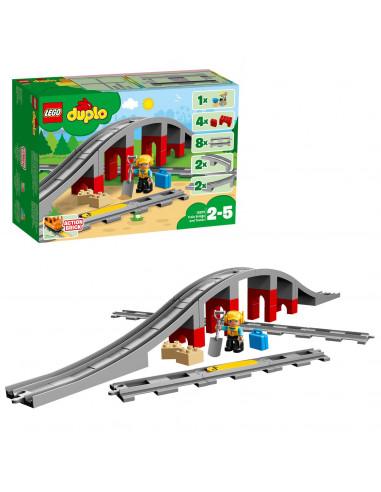 LEGO DUPLO 10872 Treinbrug en Rails