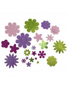 Knutsel Stickers Bloemen, 200st.