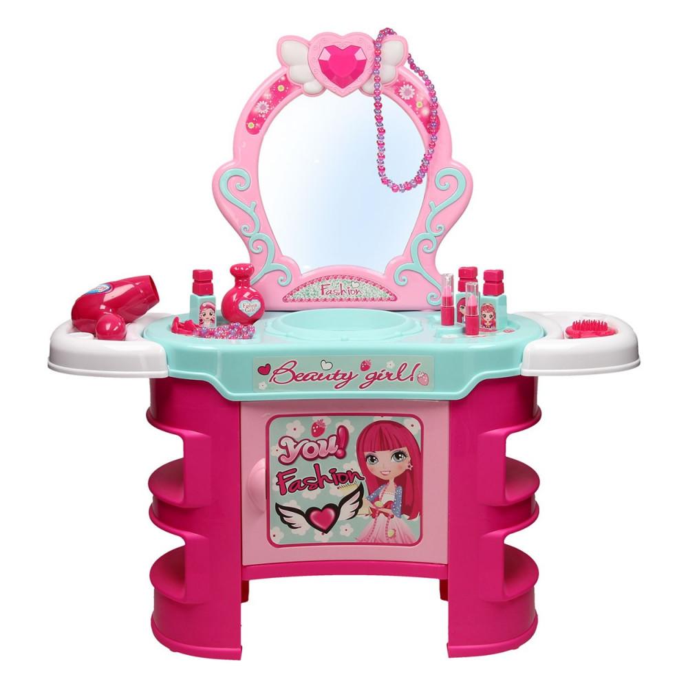 Kaptafel Met Licht.Roze Kaptafel Met Licht Geluid Online Kopen Speelgoedfamilie Nl