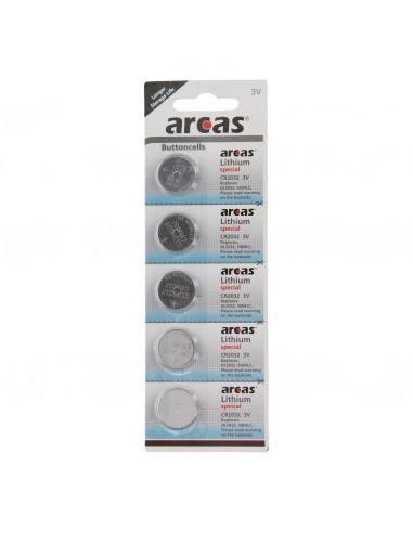 ARCAS Batterij Lithium CR2032 3V, 5st.
