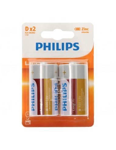 Philips Longlife Batterij Zinc D/R20,...