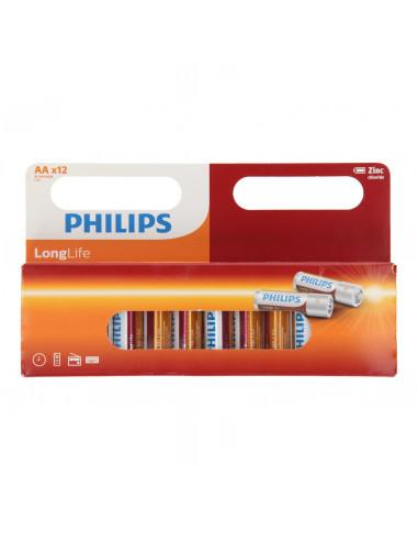 Philips Longlife Batterij Zinc AA/R6,...