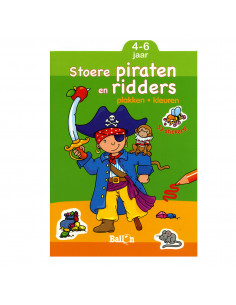 Stoere Piraten en Ridders Plakken & Kleuren